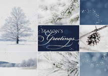 Winter Collage Holiday Greeting Cards