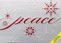 Glistening Peace Holiday Cards