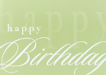 Simply Stated Happy Birthday Card